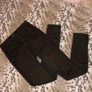Olive straight legged jeans